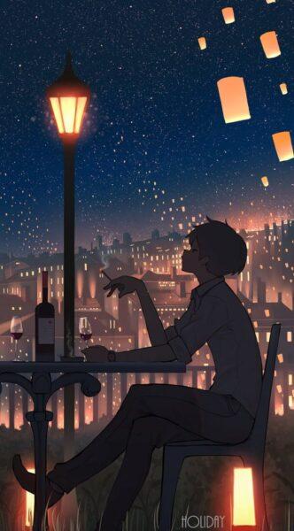 hình ảnh anime cô đơn nam