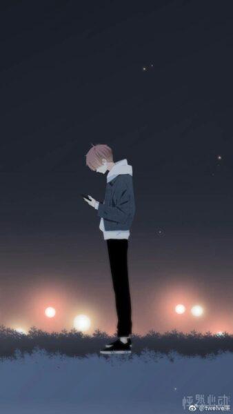 hình ảnh anime cô đơn nam cho bạn trai