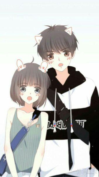 hình ảnh anime đôi học sinh dễ thương