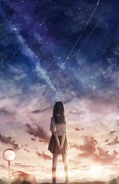 hình ảnh anime nữ cô đơn cho bạn gái