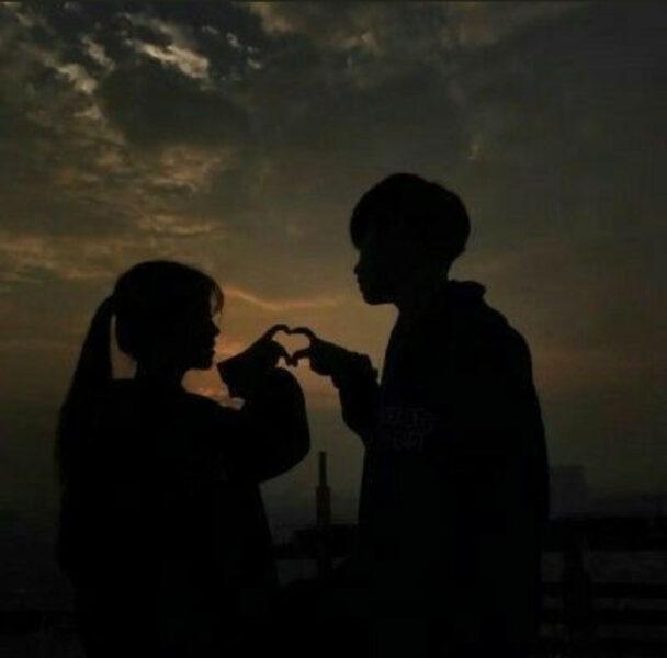 Hình ảnh avatar cặp đen
