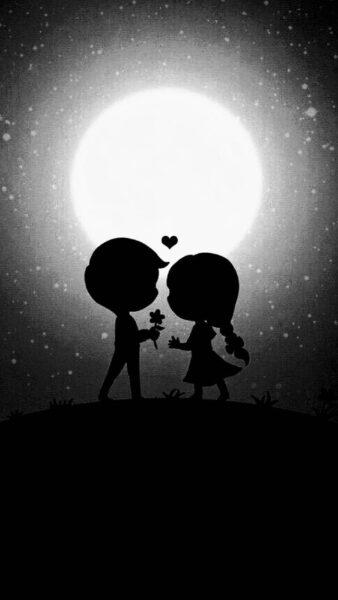 Hình ảnh avatar cặp đen dễ thương