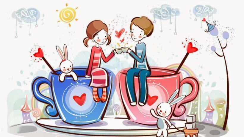 Hình ảnh avatar dễ thương về tình yêu lứa đôi