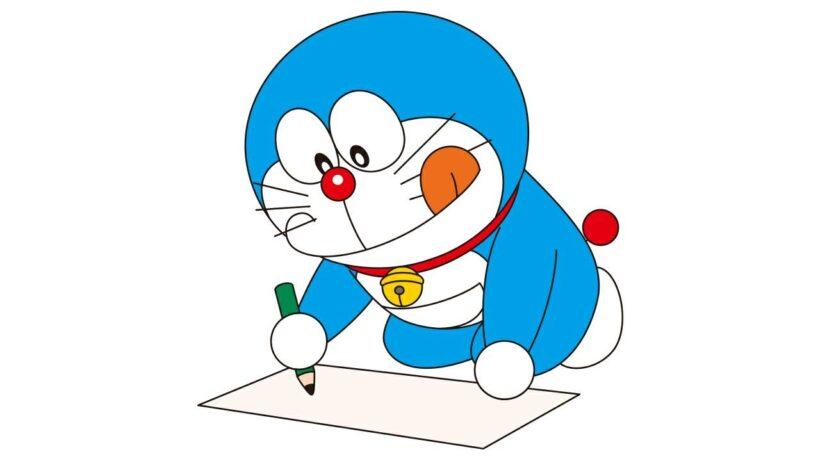 Hình ảnh avatar Doremon đang học cực dễ thương
