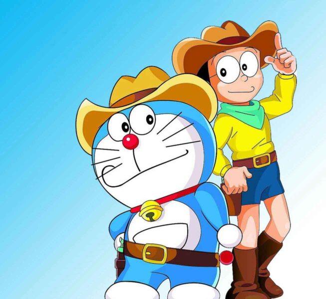 Hình ảnh avatar Doremon và Nobita cao bồi