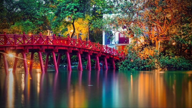 Hình ảnh cầu Thê Húc Hà Nội