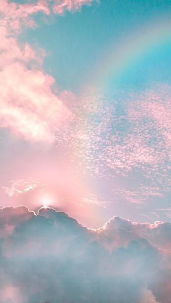 hình ảnh cầu vồng trên bầu trời