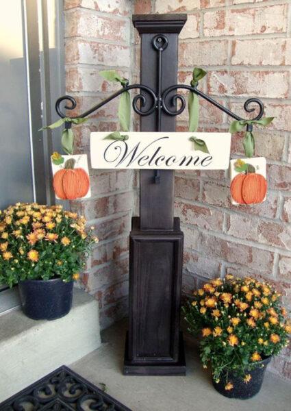 hình ảnh chào mừng trước cửa nhà