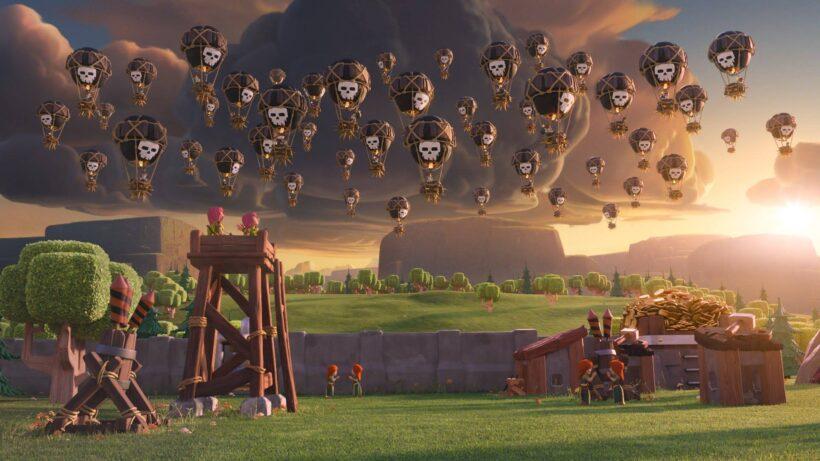 Hình ảnh Clash Of Clans chiến tranh thả dù