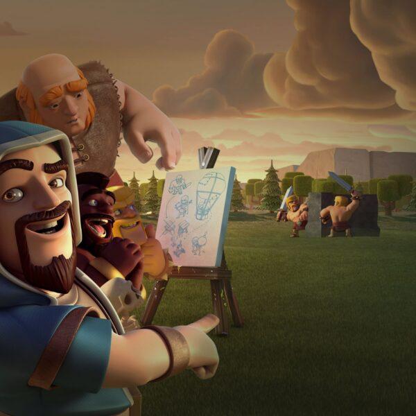 Hình ảnh Clash Of Clans họa sĩ vẽ tran