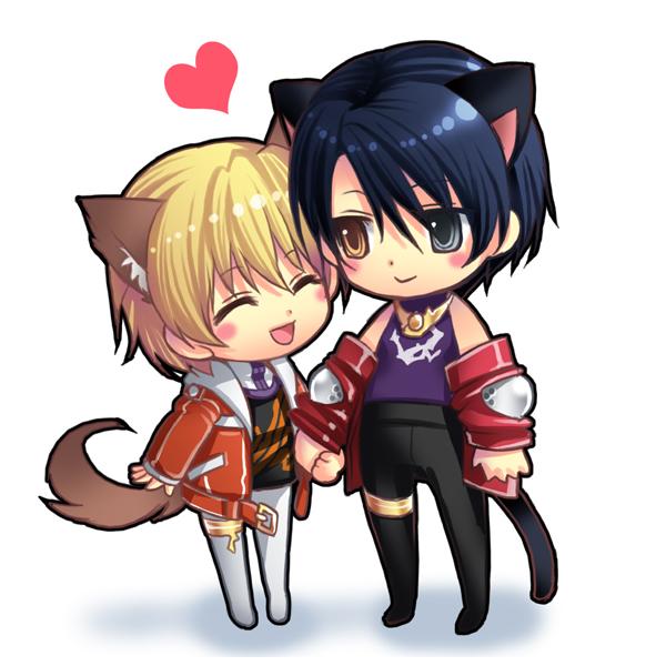 Hình ảnh đại diện avt anime cặp đôi chibi dễ thương