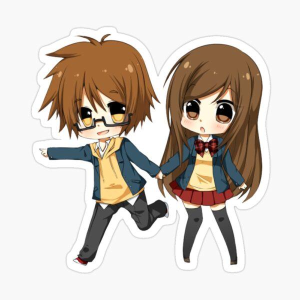 Hình ảnh đại diện avt anime chibi cặp đôi