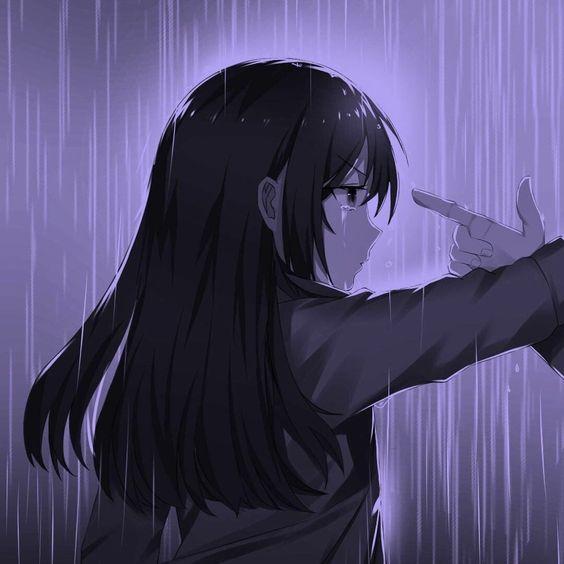 hình ảnh đại diện avt anime nữ buồn khóc