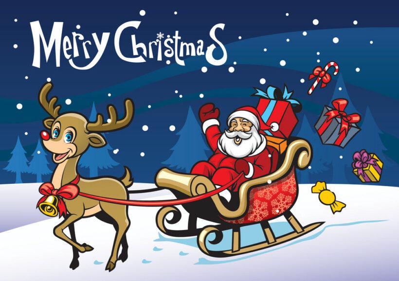 Hình ảnh đẹp về ông già Noel và xe tuần lộc