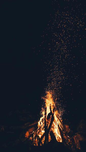 Hình ảnh đống lửa cháy làm quotes