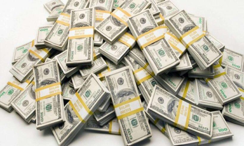 Hình ảnh đống tiền đô