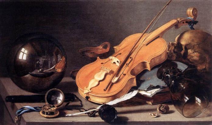 Hình ảnh dụng cụ âm nhạc trong căn phòng cũ