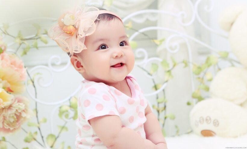 hình ảnh em bé dễ thương cute đáng yêu