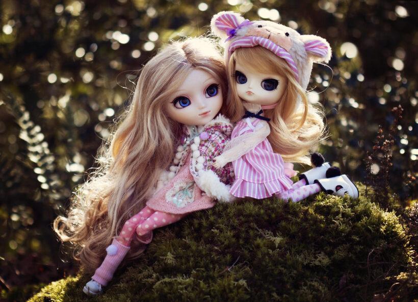 Hình ảnh hai búp bê dễ thương, đẹp