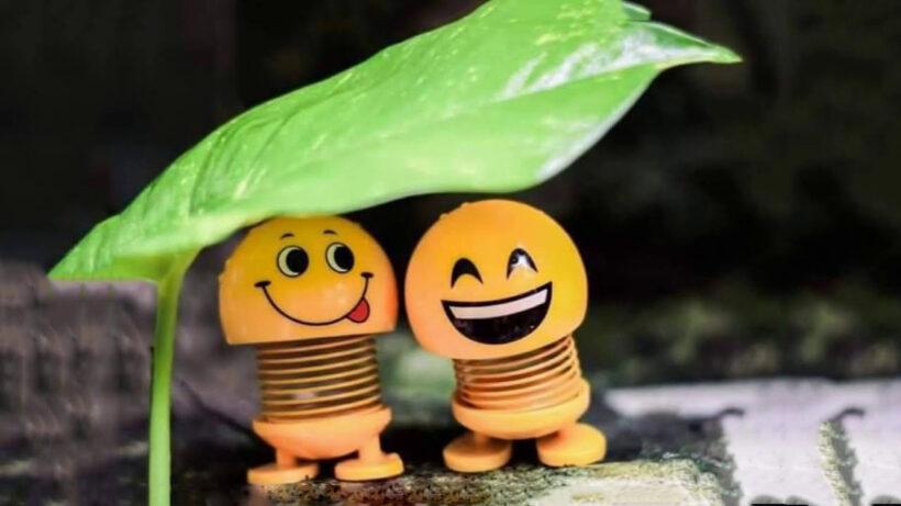 Hình ảnh hai mặt cười dễ thương
