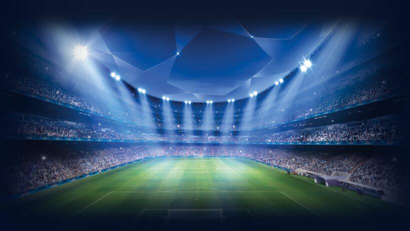Hình ảnh hình nền bóng đá với nhà thi đấu