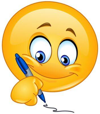 26230938 Writing emoticon