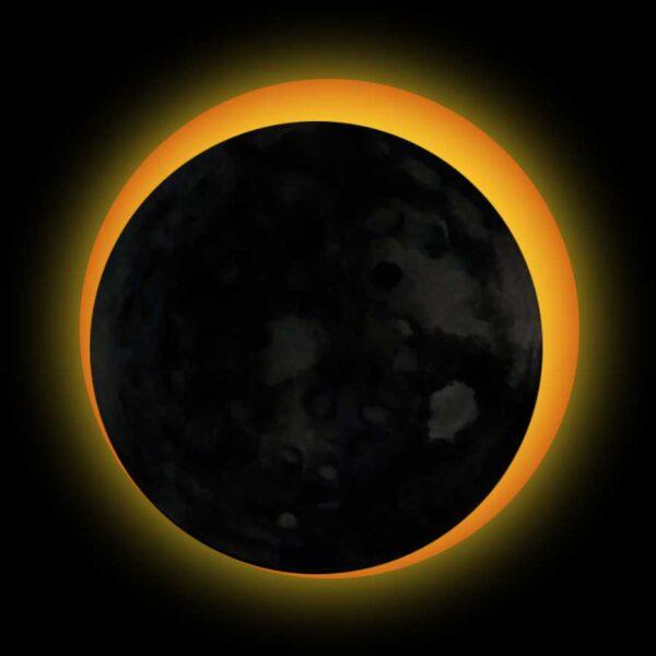 hình ảnh mặt trăng ôm nuốt mặt trời