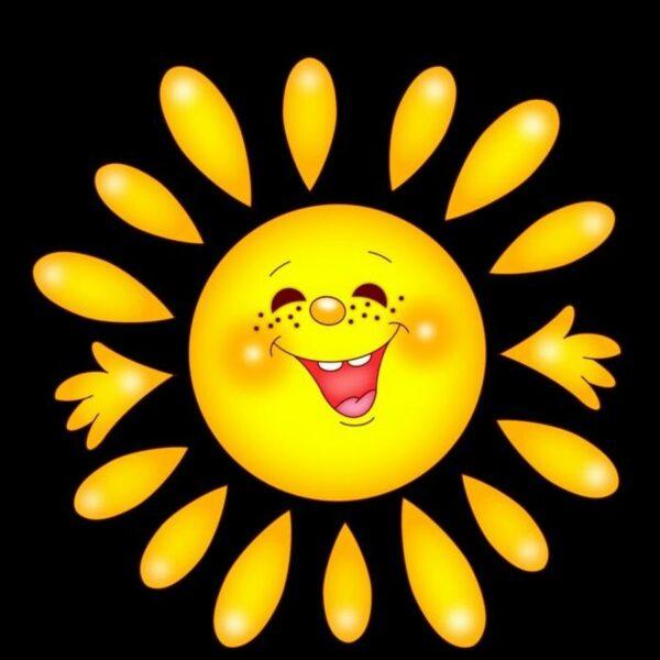 hình ảnh mặt trời cho bé cute dễ thương