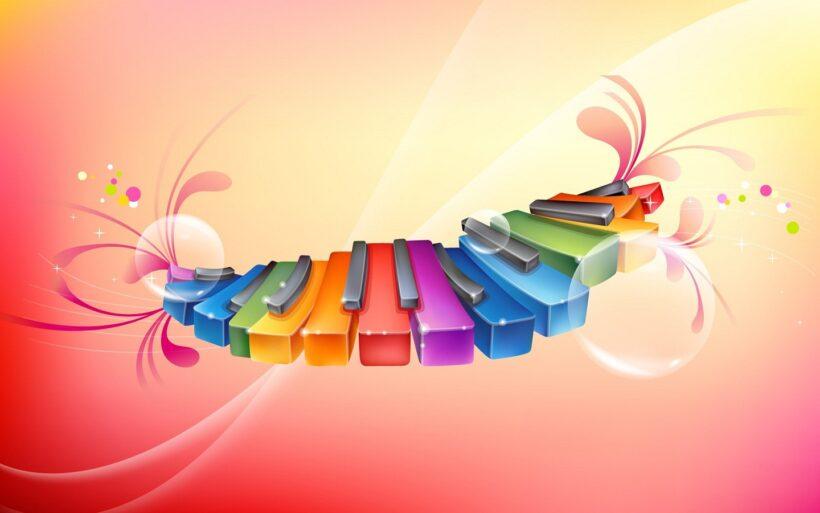 Hình ảnh nền các nút nhạc màu sắc