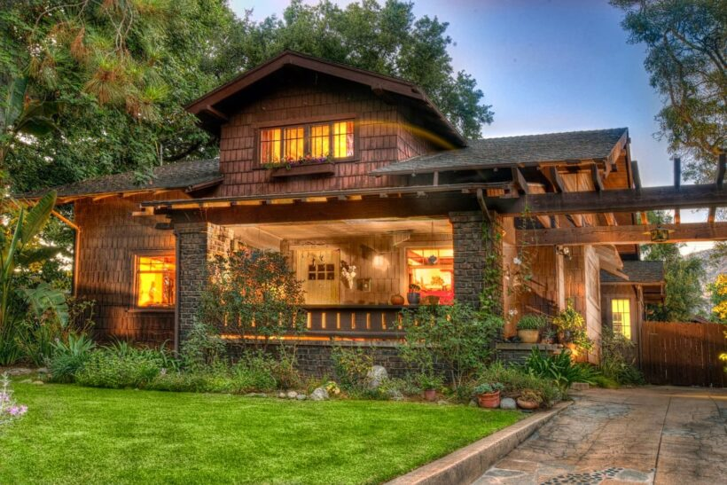 hình ảnh ngôi nhà đẹp - ngôi nhà gỗ