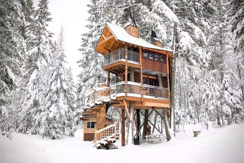 hình ảnh ngôi nhà đẹp - nhà gỗ