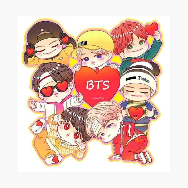 hình ảnh nhóm BTS chibi đáng yêu quá trời