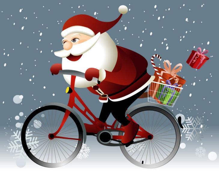 Hình ảnh ông già Noel đi tặng quà