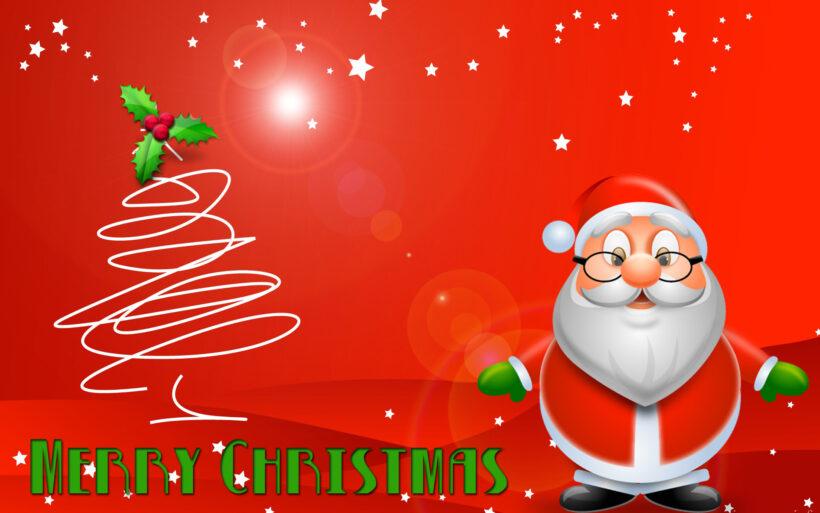 Hình ảnh ông già Noel đỏ rực trong mùa lễ Giáng Sinh
