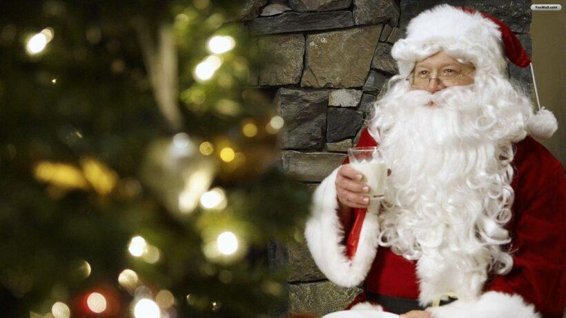 Hình ảnh ông già Noel mỉm cười