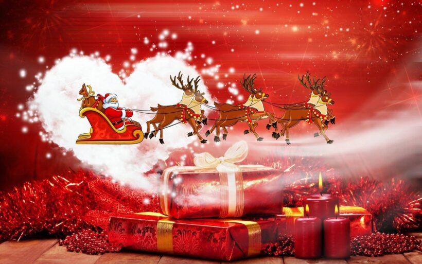 Hình ảnh ông già Noel những hộp quà