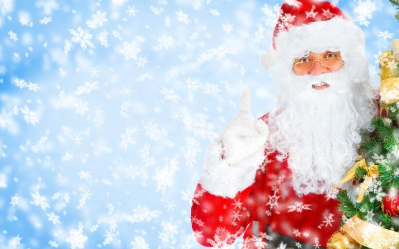 Hình ảnh ông già Noel và những hoa tuyết