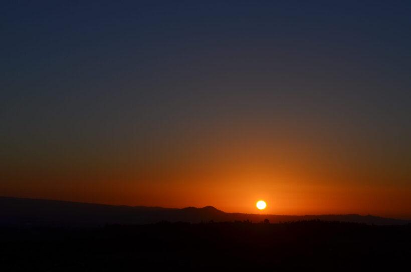 hình ảnh ông mặt trời sắp lặn