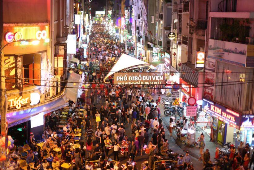 Hình ảnh phố đi bộ ở Sài Gòn