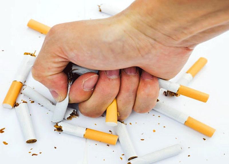 Hình ảnh quyết tâm nói không với thuốc lá