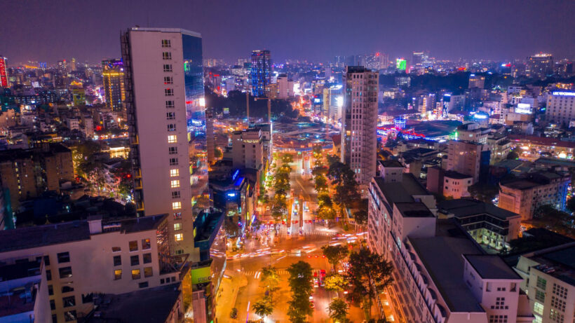 Hình ảnh Sài Gòn đẹp lung linh sắc màu đèn đêm