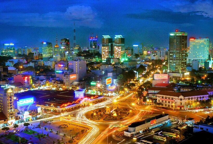 Hình ảnh Sài Gòn rực rỡ ánh đèn đêm