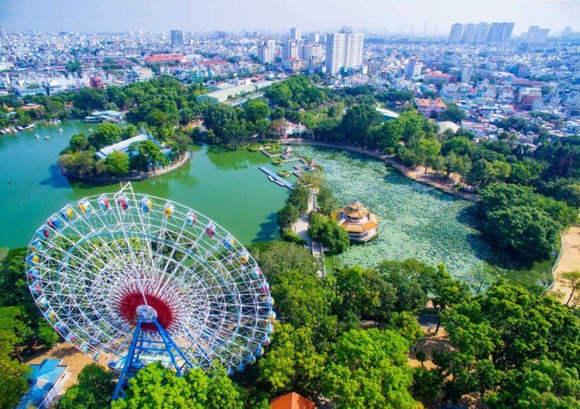 Hình ảnh Sài Gòn với góc nhìn từ trên cao