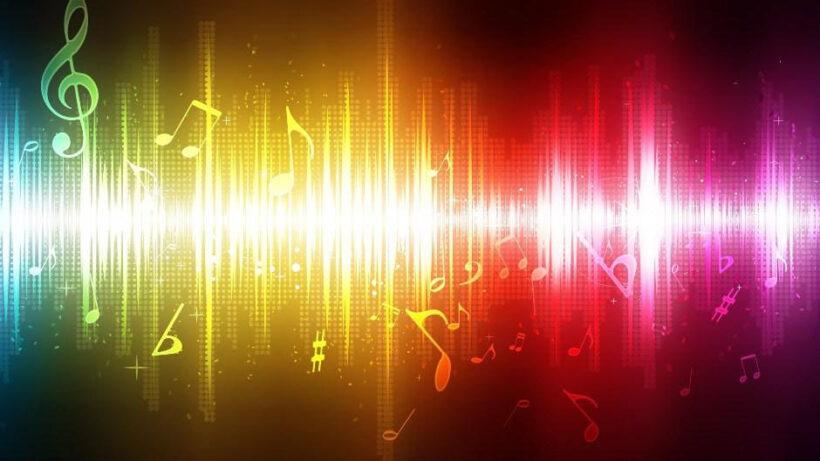 hình ảnh sóng âm nhạc
