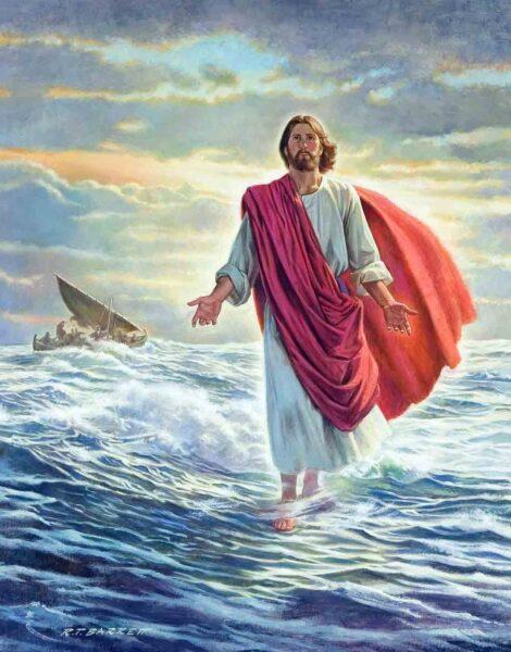 Hình ảnh thiên chúa bước đi trên mặt nước biển