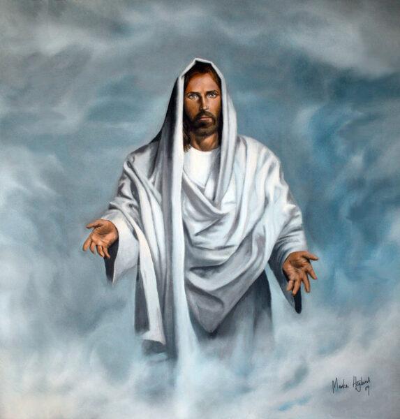 Hình ảnh thiên chúa giang rộng tay đón tông đồ của mình