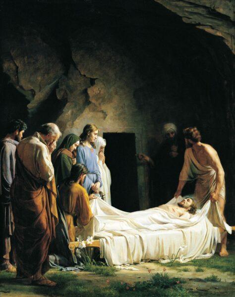 Hình ảnh thiên chúa lúc chết