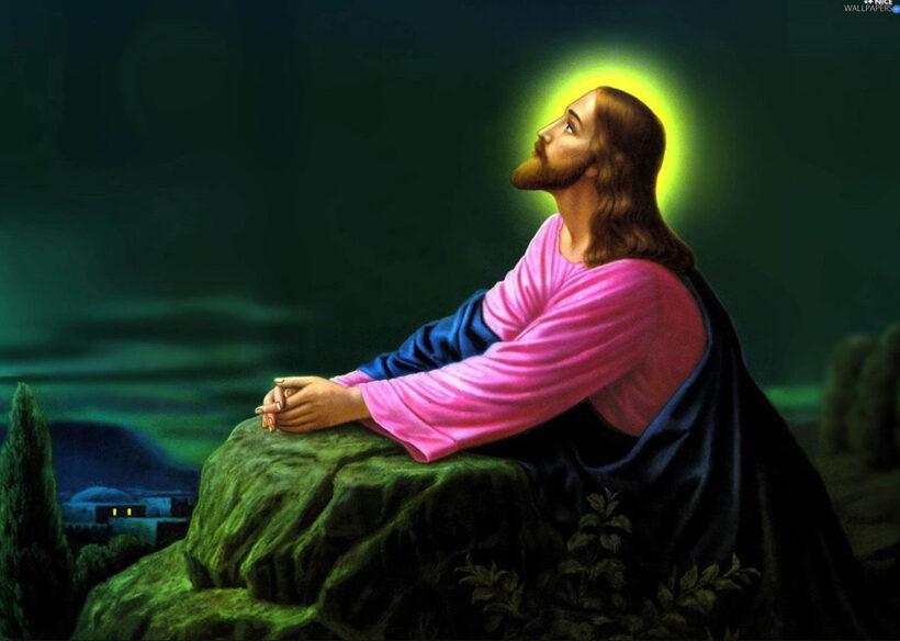 Hình ảnh thiên chúa ngước mặt nhìn lên trời đêm