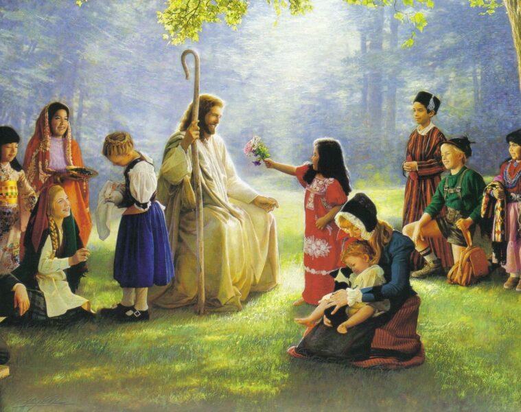 Hình ảnh thiên chúa và những con người vui vẻ
