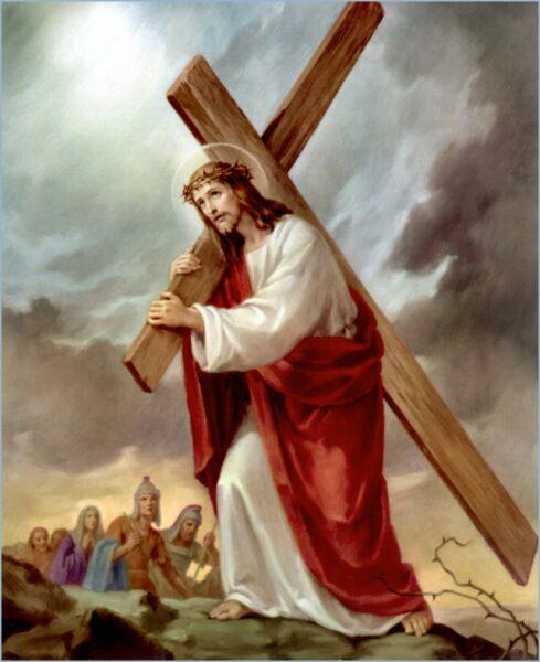 Hình ảnh thiên chúa vác cây thánh giá